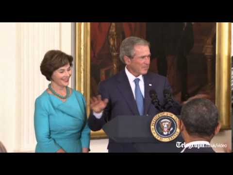 Doctor explains George W Bush's heart surgery
