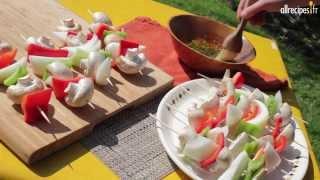 Faire facilement des brochettes de légumes