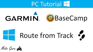 Garmin BaseCamp, How to create a route from a track