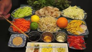 Asian Prawn Shrimp Salad With Lime&Honey Recipe How To Cook Great Food Sesame Seeds
