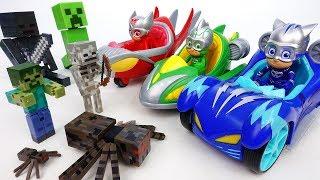 Video Go PJ Masks Turbo Blast Racers~! Minecraft Monsters Appeared - ToyMart TV MP3, 3GP, MP4, WEBM, AVI, FLV Maret 2018