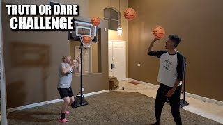 CRAZY 1v1 Mini Basketball vs. Tristan Jass *TRUTH OR DARE CHALLENGE*