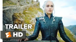 """Winter is here."" Check out the new Game of Thrones Season 7 Comic-Con trailer starring Peter Dinklage, Lena Headey, and Emilia Clarke! Be the first to watch, comment, and share trailers and movie teasers/clips dropping soon @MovieclipsTrailers. Watch more Trailers: ► HOT New Trailers Playlist: http://bit.ly/2hp08G1► What to Watch Playlist: http://bit.ly/2ieyw8G► Indie Trailers Playlist: http://bit.ly/1CWefqUSeries 7 of the adaptation of author George R.R. Martin's ""A Song of Ice and Fire"" medieval fantasies about power struggles among the Seven Kingdoms of Westeros.About Movieclips Trailers:► Subscribe to TRAILERS:http://bit.ly/sxaw6h► We're on SNAPCHAT: http://bit.ly/2cOzfcy ► Like us on FACEBOOK: http://bit.ly/1QyRMsE ► Follow us on TWITTER:http://bit.ly/1ghOWmt The Fandango MOVIECLIPS Trailers channel is your destination for hot new trailers the second they drop. The Fandango MOVIECLIPS Trailers team is here day and night to make sure all the hottest new movie trailers are available whenever, wherever you want them."