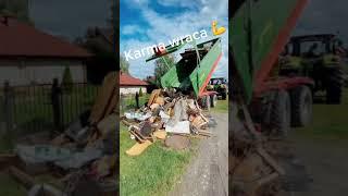Kontener śmieci ląduje z powrotem na podwórku śmieciarza – piękna akcja!