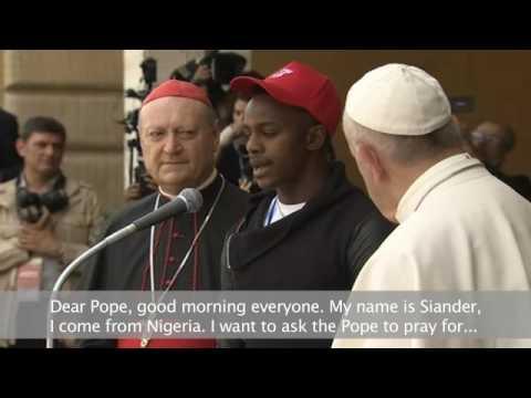 Папата прие във Ватикана деца-мигранти. 28 май 2016