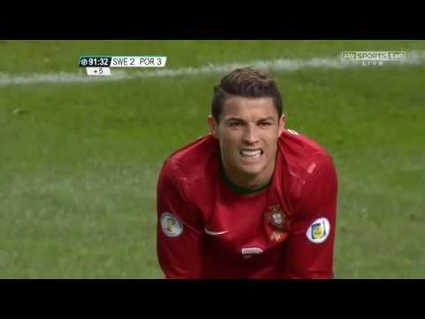 cristiano ronaldo: tripletta in svezia-portogallo 2-3