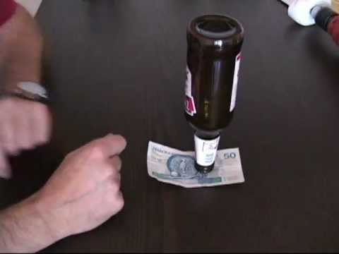 "Remove Bill Under The Bottle,  # 2,  Funny "" Bar Trick ""."