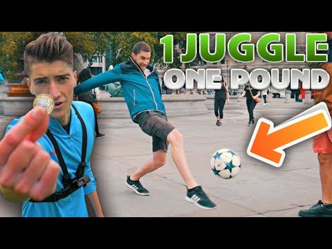 Giving People £1 for Every Juggle they can Do!!