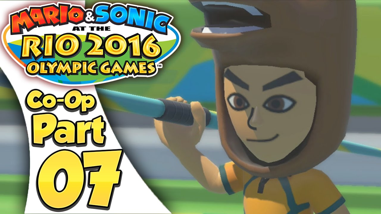 Mario & Sonic At The Rio 2016 Olympic Games – Co-Op Tournament Part 7 | Javelin Throw!