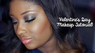 Valentine's Day Makeup Tutorial | Brown/Green Duochrome Eyeshadow + Coral Lips/Cheeks! (2014)