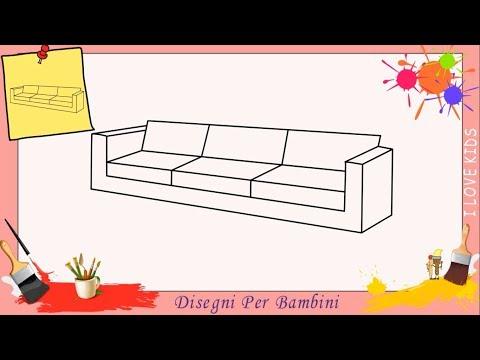 Disegni di divani FACILI per bambini | Come disegnare un divano passo per passo
