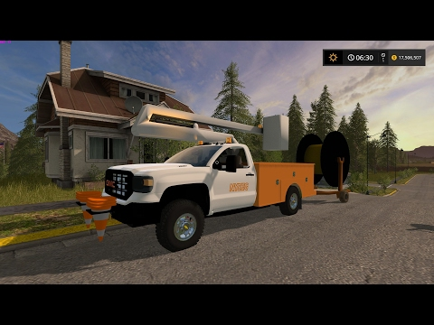 2016 GMC Sierra 3500HD Bucket Truck v1