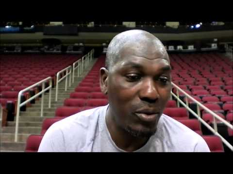 Hakeem Olajuwon after Houston Rockets Training Camp Day 2