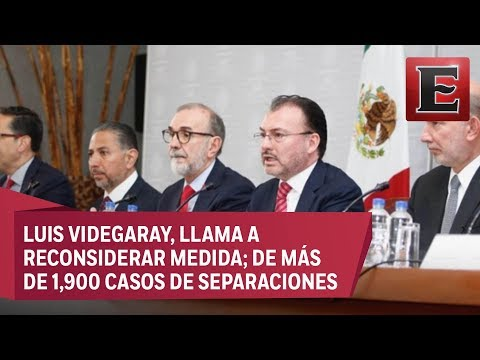 'Cruel e inhumana', política migratoria de Trump: Videgaray