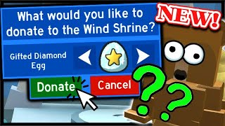 What Happens When You Donate a *GIFTED* DIAMOND EGG To The Wind Shrine? | Roblox Bee Swarm Simulator