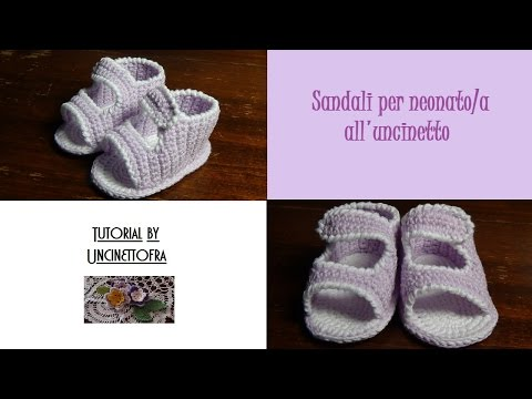 uncinetto - sandali per neonato