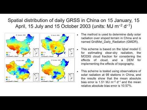 New Method for Estimating Daily Global Solar Radiation_Nap videók