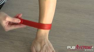 Bracelet usb avec clip poignet