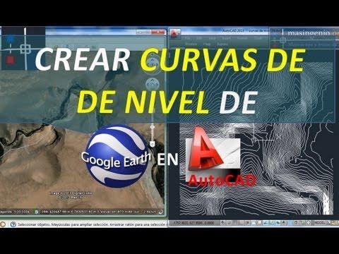 Cómo crear curvas de nivel de Google Earth en AutoCAD