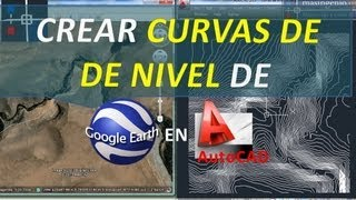 Video Crear Curvas de nivel de Google Earth en AutoCAD MP3, 3GP, MP4, WEBM, AVI, FLV September 2018