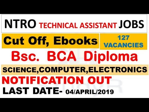 Ntro Technical Assistant Huge Vacancies Out| Cut Off | Ebooks | Notification Detail