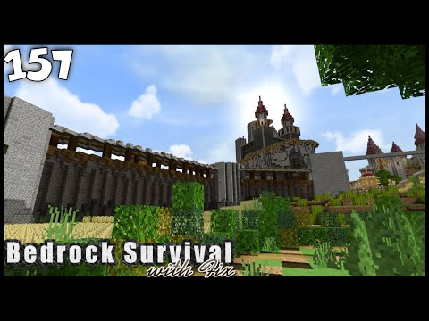 AWESOME MEDIEVAL CITY WALLS! - Bedrock Survival: 157 [Minecraft | Single Player | Lets Play]