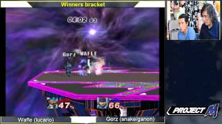 Lucario vs. Snake/Gannon gameplay.