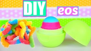 DIY EOS out of Gummy Worms! Make lip balm out of Candy! - YouTube