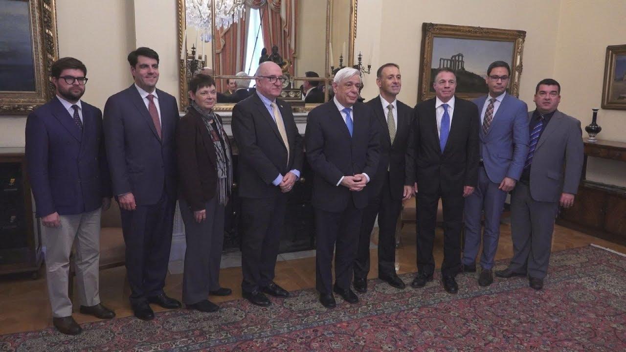 Συνάντηση του Πρ. Παυλόπουλου με το Δ.Σ. της  Παγκόσμιας Διακοινοβουλευτικής Ένωσης Ελληνισμού