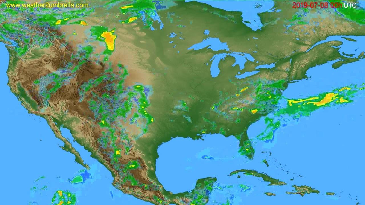 Radar forecast USA & Canada // modelrun: 12h UTC 2019-07-07