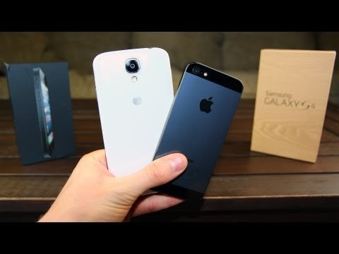 samsung - Samsung Galaxy S4 versus iPhone 5: an in-depth Review! http://bit.ly/ZhcMg9 Which is better, Samsung's new Galaxy S4 or Apple's iPhone 5 smartphone? Find out...