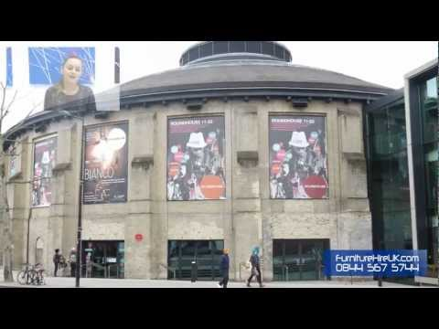 Stacking Chair Installation at the Camden Roundhouse – Furniture Hire UK