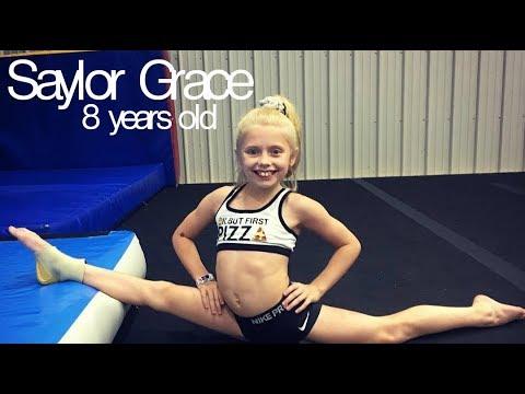 Saylor Grace - Amazing 8 year old gymnast! (Level 7) (видео)