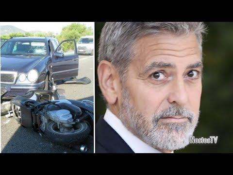 GEORGE CLOONEY: BRUTTISSIMO INCIDENTE IN SARDEGNA. SCONTRO FRONTALE IN MOTO