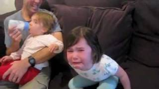 Toddler's Hilarious Reaction to Baby Sister Announcement - YouTube