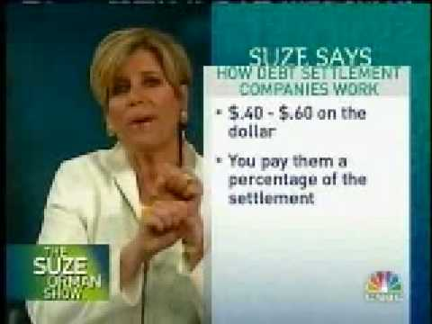 Suze Orman's Debt Consolidation and Debt Review Tips