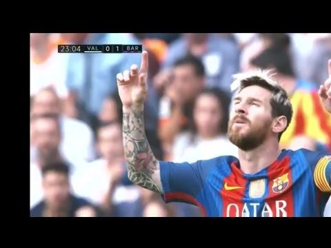 Barcelona VS Valencia 22-10-2016 All Goals (3-2) / Full Highlights