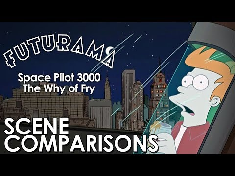 Futurama | Space Pilot 3000 and The Why of Fry - scene comparisons