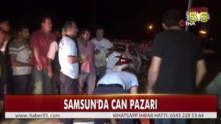 TRAFİK KAZASINDA ARAÇ KANALA SAVRULDU