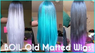 How To: BOIL Your Wigs? | Revamp Old Matted Synthetic Wigs | Make Straight Wigs Last FOREVER