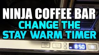 Do you find your stay warm hot plate has turned off before you are done with your coffee?  If so, watch this video.  We show you how to increase the timer up to 4 hours!!Get the New Ninja Coffee Bar Here : http://amzn.to/2jXFoKWGet the old Ninja Coffee Bar Here. http://amzn.to/2j9lvMzFind Ninja Cooking system recipes here: http://EasyNinjaRecipes.comPLEASE SUBSCRIBE!!!http://www.youtube.com/subscription_center?add_user=im14pinballGet Cash Back when you shop online!http://www.ebates.com/rf.do?referrerid=IA2rxShzGMuEoUXkh%2FPF7g%3D%3D&eeid=28187