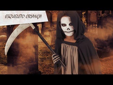 Maquilhagem de esqueleto para criança especial Halloween