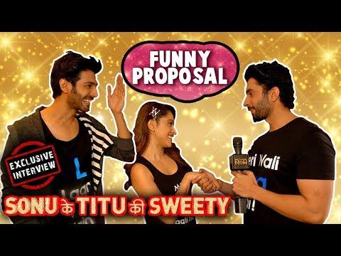 Kartik Aaryan & Sunny Singh's Funny Propose For Nu