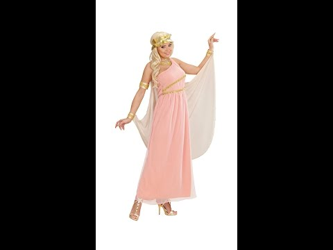 "7200 - ""APHRODITE GODDESS OF LOVE"" (dress With Cape And Cuffs, Collar, Head Wreath)"
