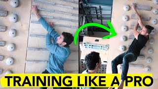 Training with a Pro Climber on the Campus & Hangboard ( ft. Paul Robinson ) by  rockentry