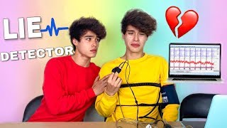 LIE DETECTOR TEST ON MY TWIN BROTHER! (he cried)
