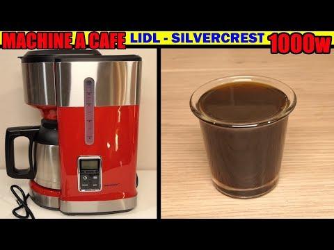 machine à café LIDL SILVERCREST 1000w filtre Coffee Machine Kaffeemaschine Macchina da caffè