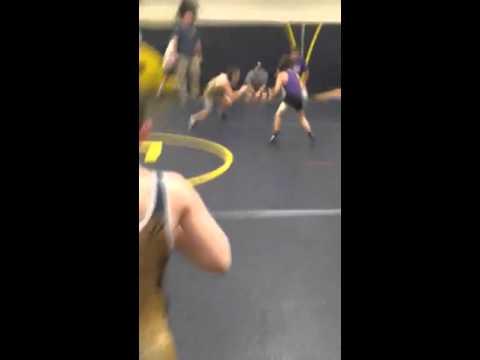 Jake Ligo wrestling Franklin Reginal Scrimmage 2