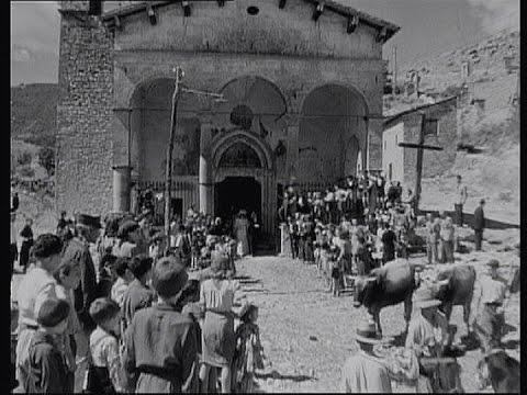 TAGLIACOZZO Chiesa del Soccorso. 1943 dal film Desiderio di R. Rossellini.