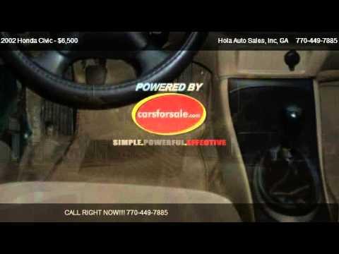 2002 honda civic ex sedan - Hola Auto Sales, Inc 6580 Buford HWY NE in Atlanta, GA 30340 Come test dirve this 2002 Honda Civic EX sedan for sale in Atlanta, GA. http://www.holaautosales...